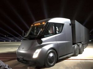 Tesla Semi Truck and Trailer Owner Operator Trucking