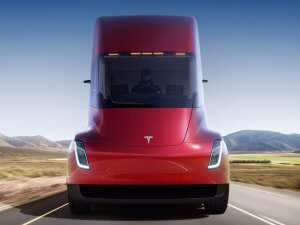 Tesla Truck from front is dramitically different from Statustrucks rigs.