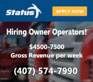 Status Transportation pay for owner operators is top tier